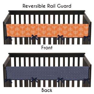 Navy Crib Rail Cover Wayfair