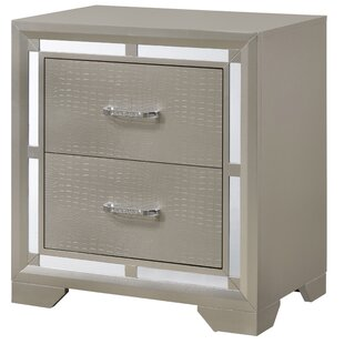 Best Price Mohn 2 Drawer Nightstand by House of Hampton