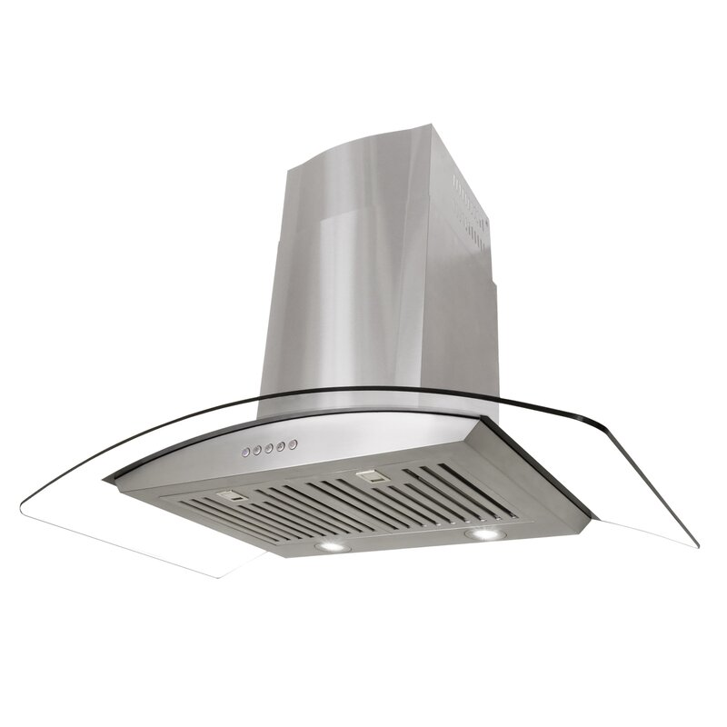 Cosmo 36 760 Cfm Ductless Wall Mount Range Hood In Stainless Steel