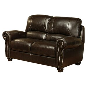 Allen Leather Loveseat by Darby Home Co