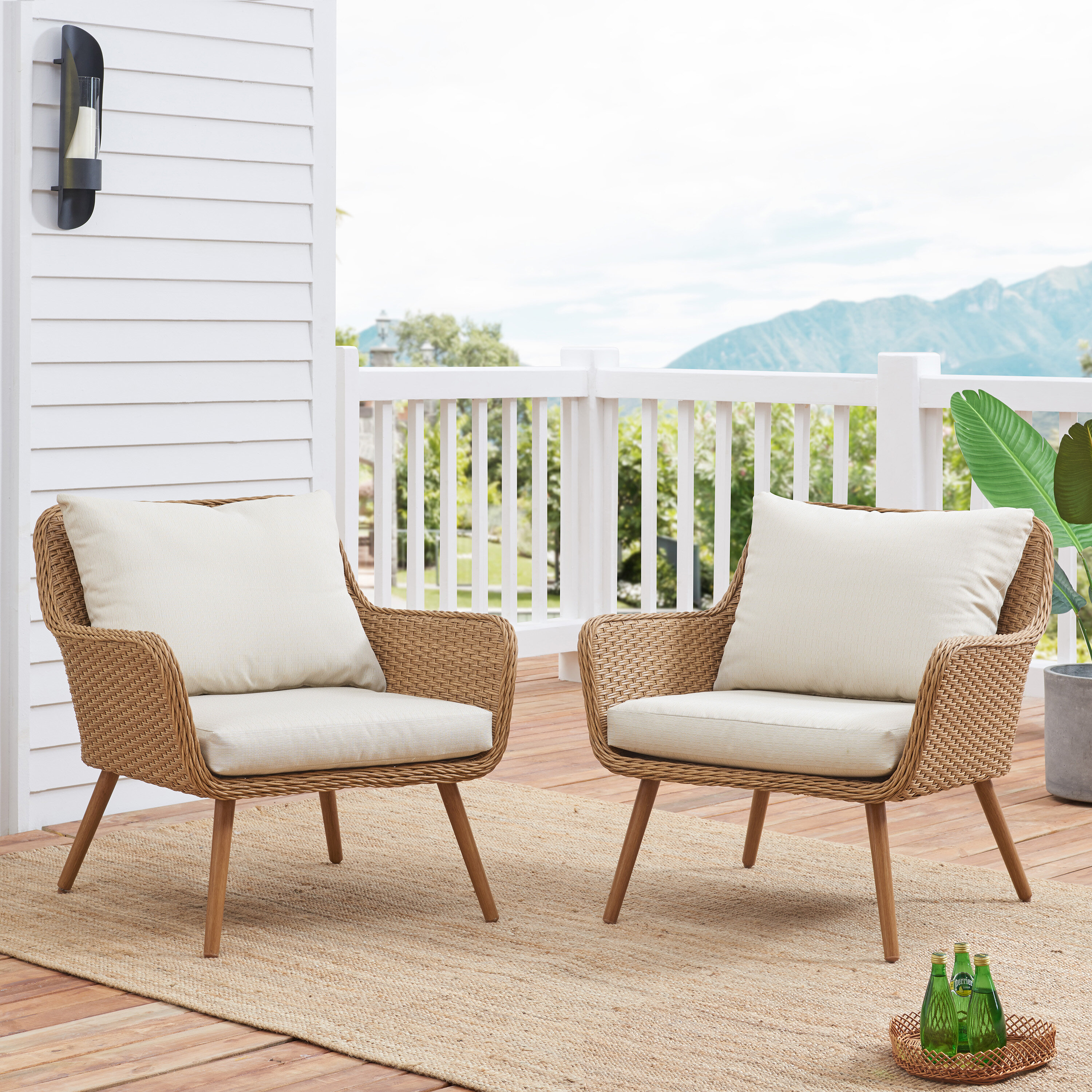 Picture of: Chamond Outdoor Patio Chair With Cushions Reviews