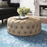 Acklen 41.73 Tufted Round Cocktail Ottoman by Kelly Clarkson Home