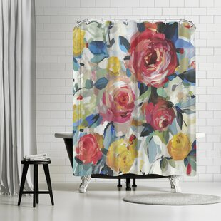 PI Creative Art Red Roses Single Shower Curtain