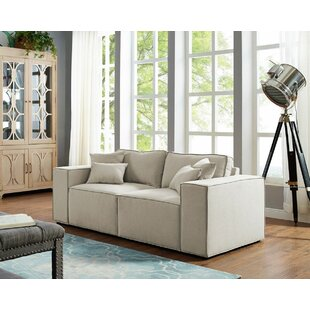 Burgin Modular Loveseat by Williston Forge Bargain
