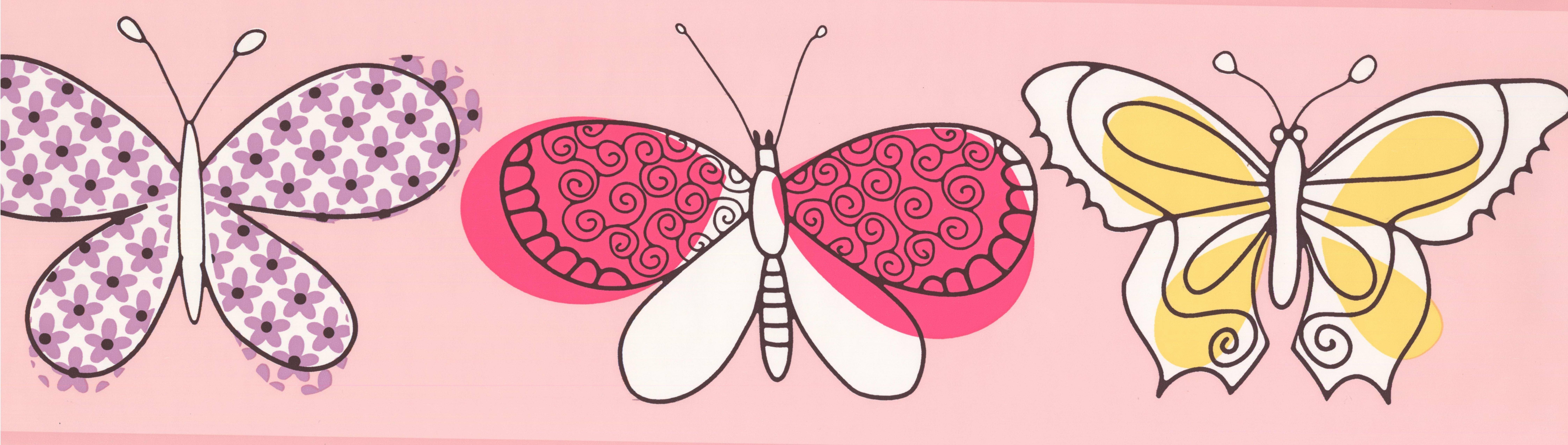 Retroart Butterfly Kids Baby 15 X 7 Wallpaper Border Wayfair