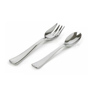 Silver Secrets Plastic Disposable Flatware Combo Pack