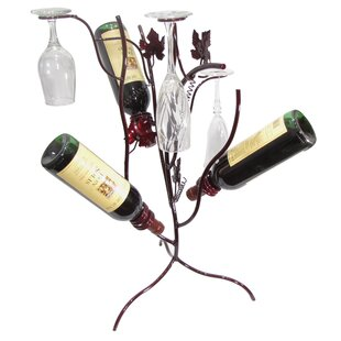 Grapevine Stem Tree 3 Bottle Tabletop Wine Rack