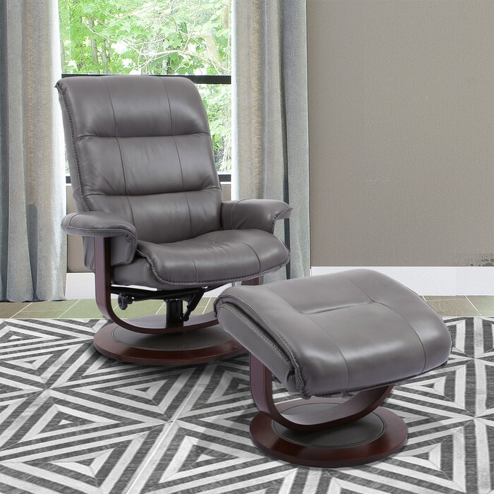 Astonishing Bozrah Manual Swivel Recliner With Ottoman Ibusinesslaw Wood Chair Design Ideas Ibusinesslaworg