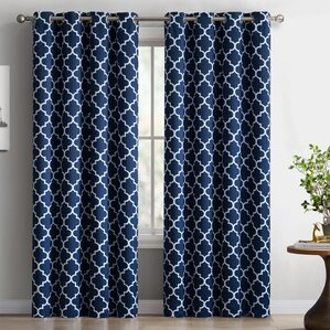 Curtains Pictures blue curtains & drapes you'll love | wayfair