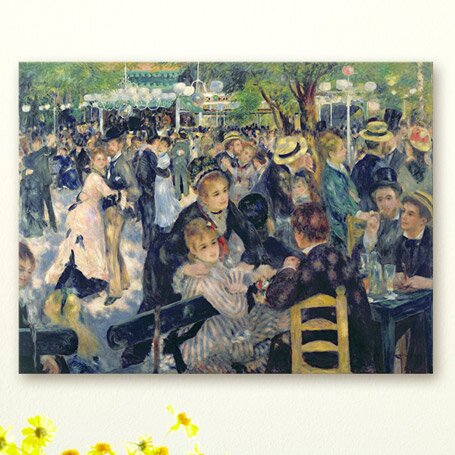 «ball at the moulin de la galette par pierre auguste renoir, impression