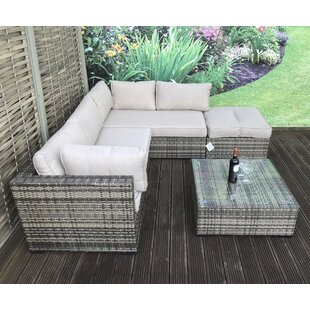 Artus 4 Seater Rattan Effect Sofa Set