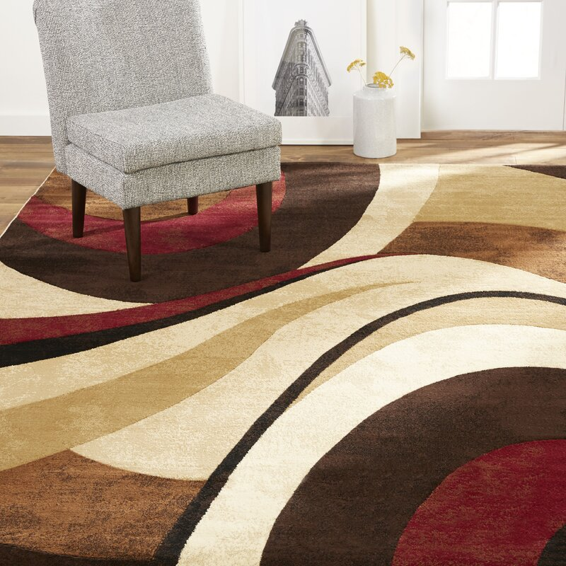 Andover Mills Nadell Abstract Brown Beige Area Rug Reviews Wayfair