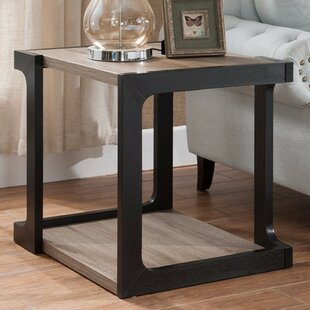 Rubin Contemporary End Table by Wrought Studio