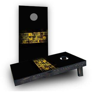 Custom Cornhole Boards Police Line Do Not Cross Tape Cornhole Boards (Set of 2)