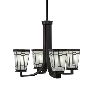 Loon Peak Eurig 4-Light Shaded Chandelier