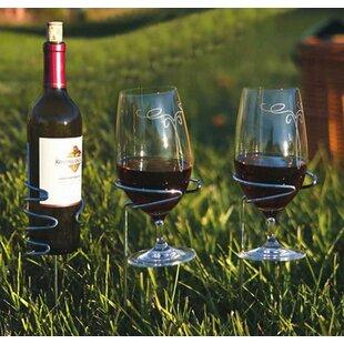 Glass Handy 1 Bottle Tabletop Wine Rack by Picnic Plus