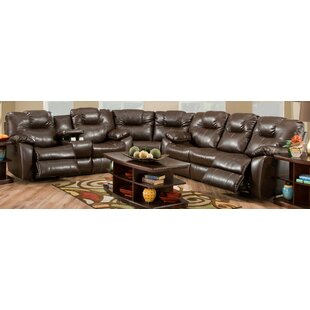 Avalon Leather Reclining Sectional by Southern Motion