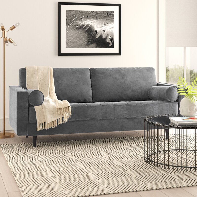Allmodern Lark 84 Square Arm Sofa Reviews Wayfair