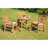 Kevon Luxurious 4 Piece Teak Dining Set