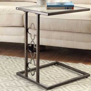 Charlton Home Denton Quatrefoil End Table
