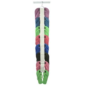 Find a Shoe Storage 8 Pairs Flip Flop Hanging Shoe Organizer By Richards Homewares