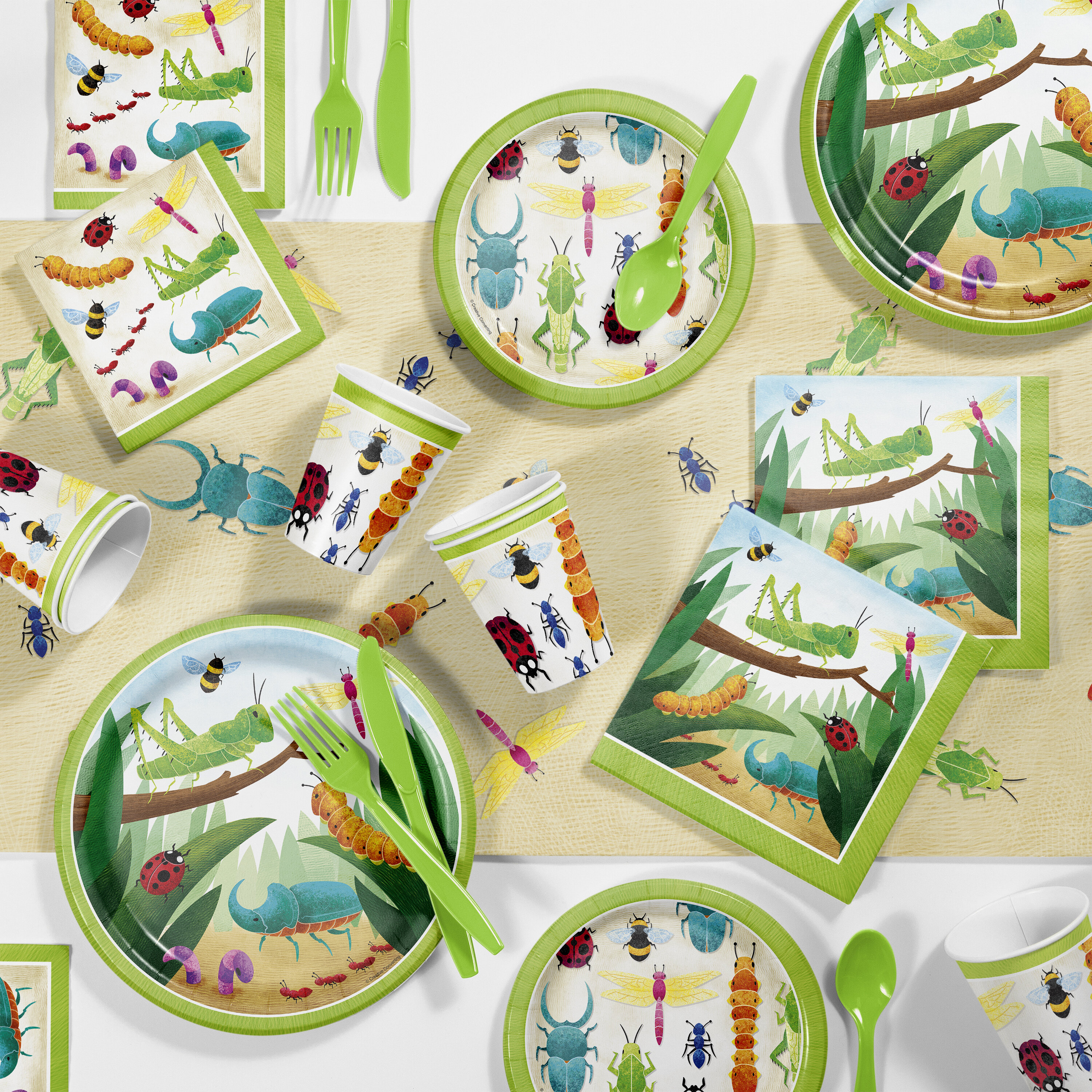Party Bug Tablecover Bug Birthday Decorations Bug Party Tablecover- Bug Party Table Cover Little Bug Birthday Tablecloth Bug Birthday