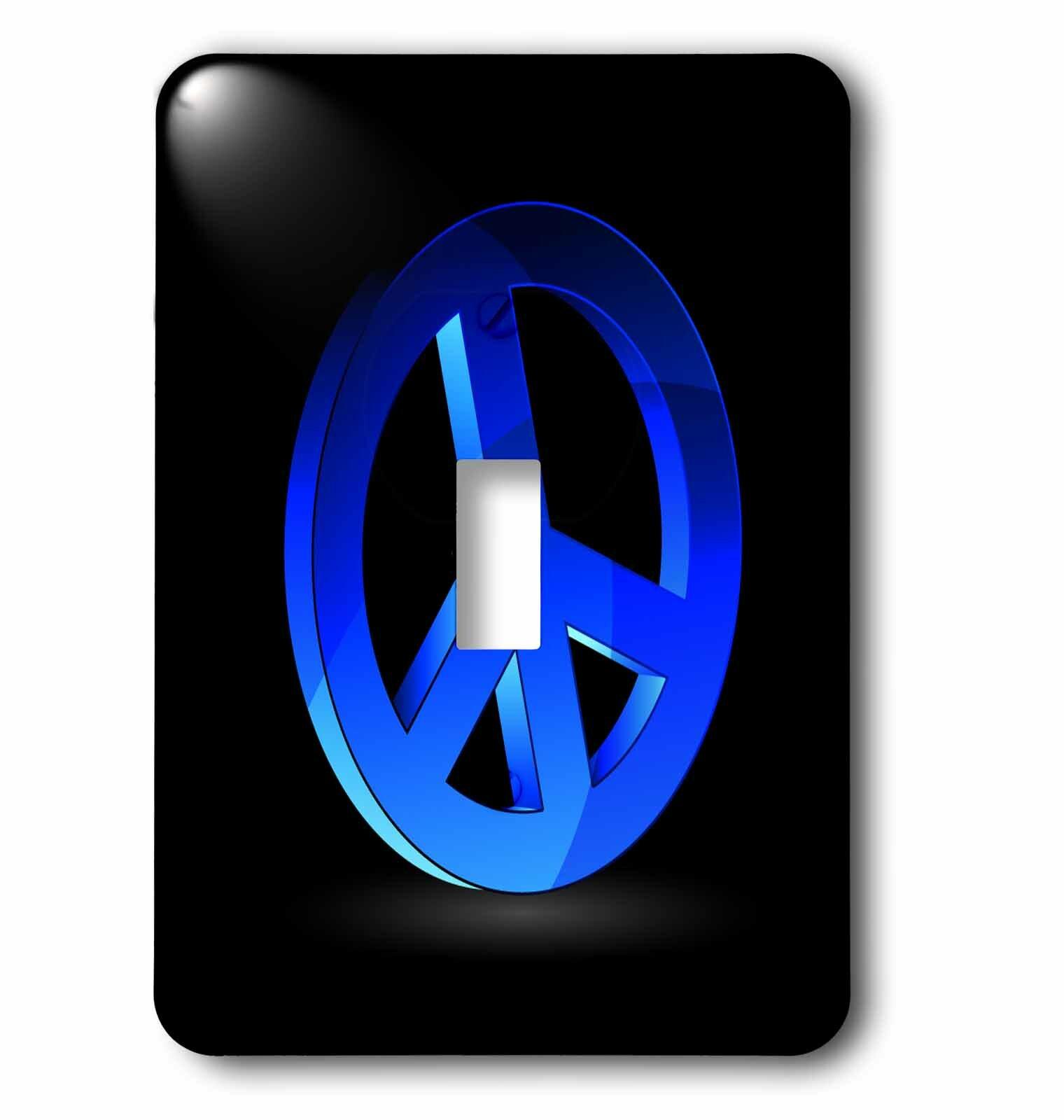 3drose Peace Sign 1 Gang Toggle Light Switch Wall Plate Wayfair