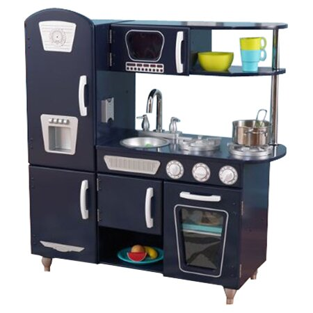 Kidkraft Retro Kitchen Blue kidkraft vintage kitchen & reviews | wayfair