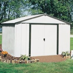 Arrow Arlington 10 ft. 3 in. W x 12 ft. 2 in. D Metal Storage Shed