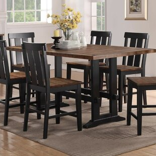 Amir Counter Height Solid Wood Dining Table Gracie Oaks