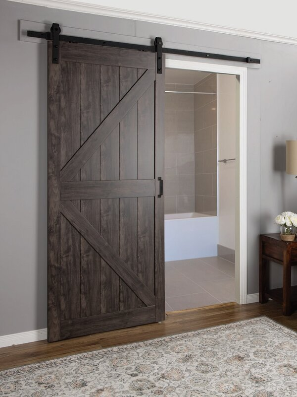 Elegant Continental MDF Engineered Wood 1 Panel Interior Barn Door