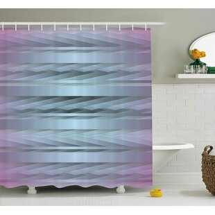 Enrique Zig Zag 80s Party Theme Single Shower Curtain