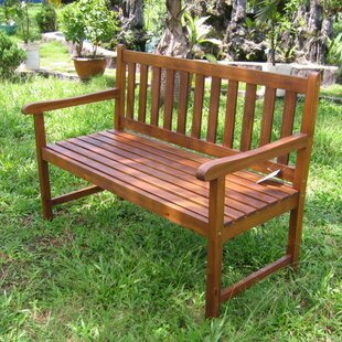 Pine Hills Acacia Wood Garden Bench by Beachcrest Home