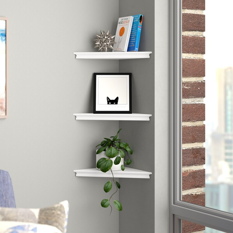 Lebanon Triangle Corner Wall Shelf
