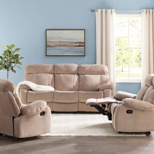 Topeka Reclining 3 Piece Living Room Set by Red Barrel Studio