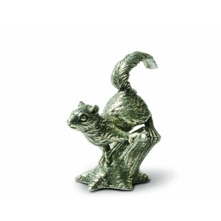 Woodland Creatures Pewter Squirrels on Trees Salt and Pepper Shaker Set