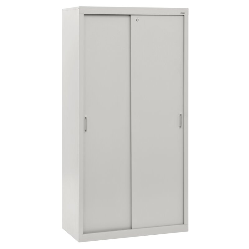 Sandusky Sliding Door Storage Cabinets 5-Shelf Storage Cabinet