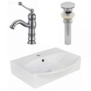 Compare Ceramic 19.5 Bathroom Sink with Faucet and Overflow By Royal Purple Bath Kitchen