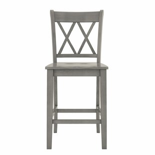 Compare Bromborough Double X-Back 24 Bar Stool (Set of 2) by Three Posts Reviews (2019) & Buyer's Guide