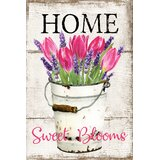 Gisella Home Tulips in Bucket 2-Sided Polyester 18 x 12 in. Garden Flag