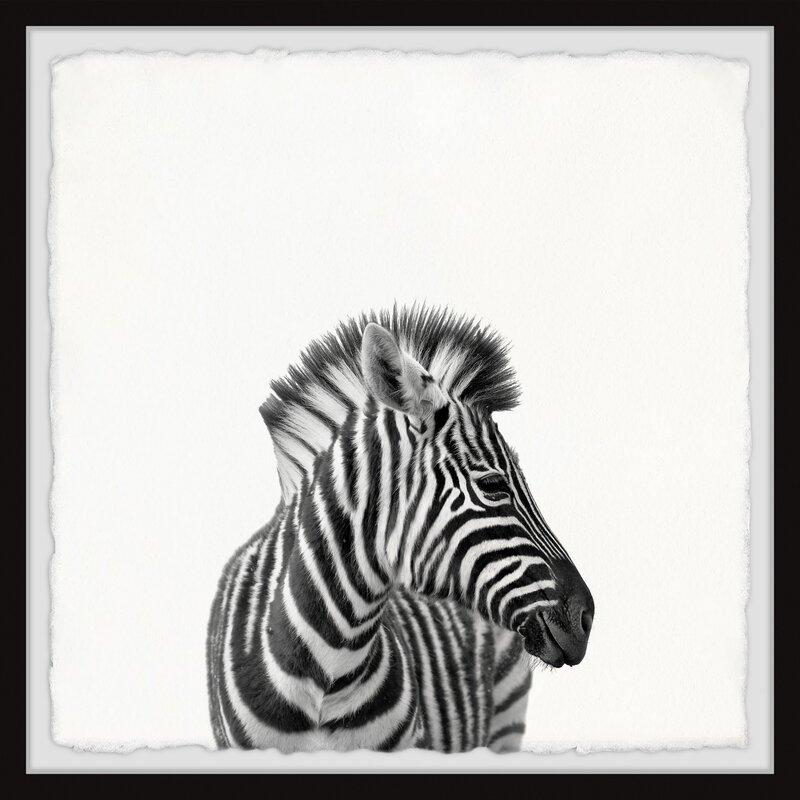 East Urban Home Unique Stripes Picture Frame Graphic Art Print On Paper Wayfair