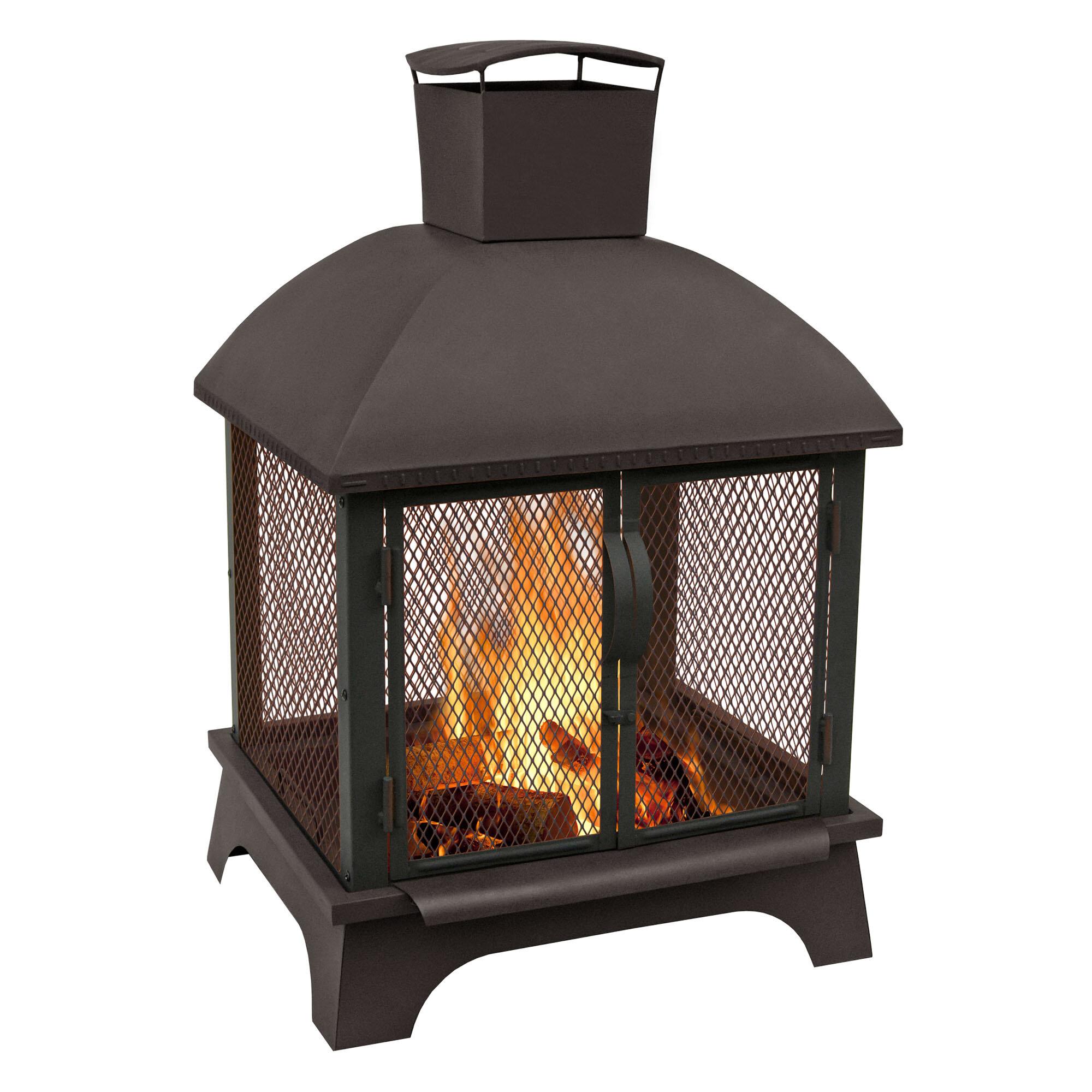 Landmann Steel Wood Burning Outdoor Fireplace Reviews Wayfair