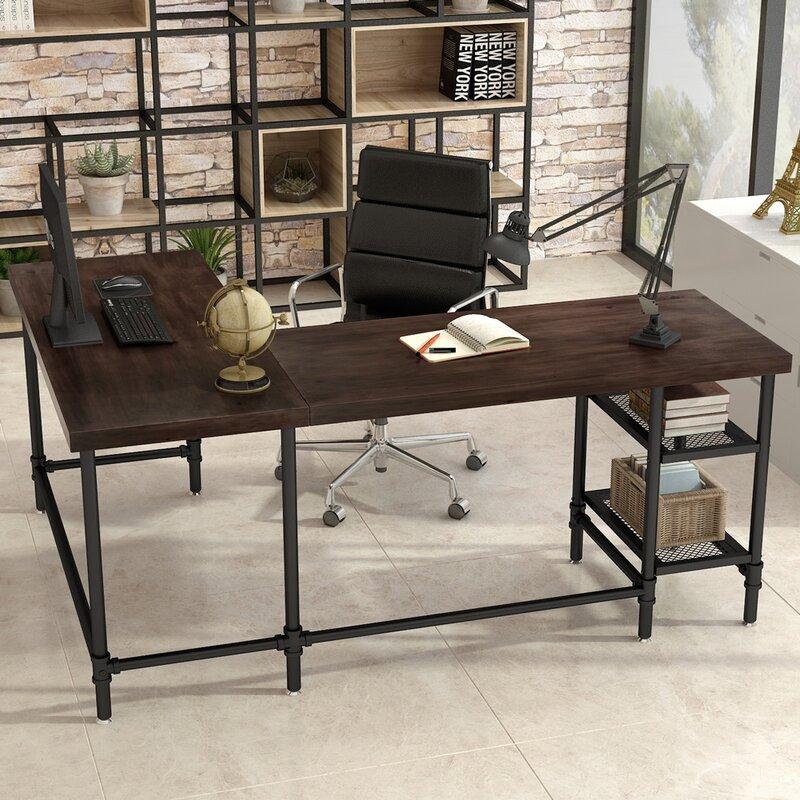Williston Forge Cletus Reversible L Shape Desk Wayfair