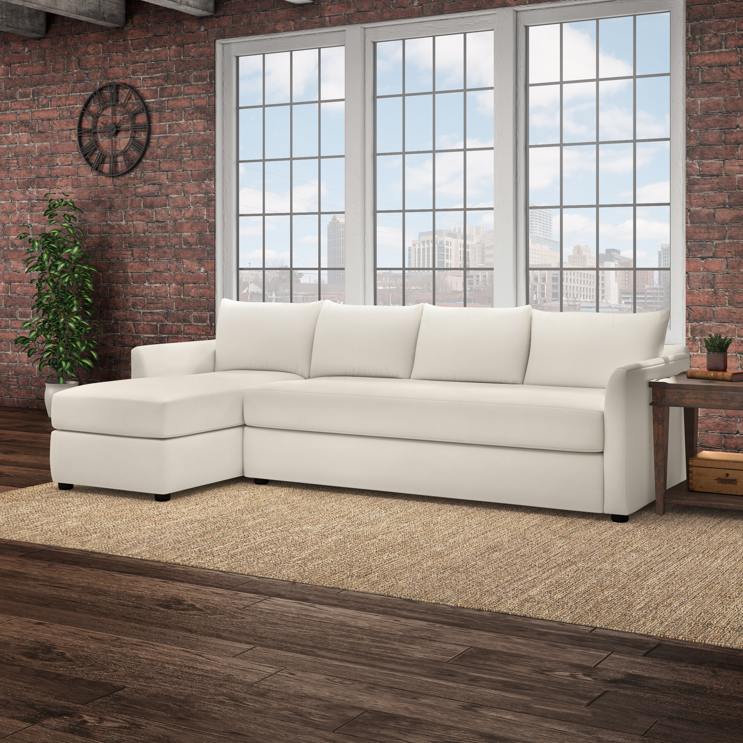 Stupendous Ayanna Sofa With Chaise Sectional Ibusinesslaw Wood Chair Design Ideas Ibusinesslaworg