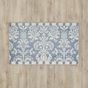 Deals Poquonock Blue/White Area Rug By Charlton Home