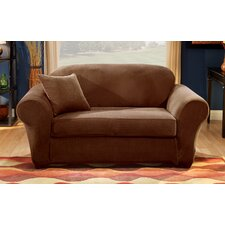Stretch Pique Separate Seat Loveseat Slipcover by Sure Fit