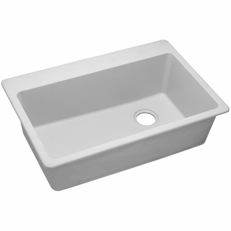 White Top Mount Kitchen Sink