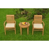 Koret 3 Piece Teak Bistro Set
