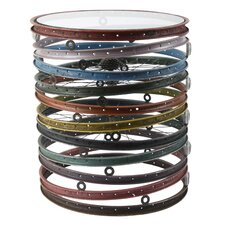 Bicycle Wheel Drum End Table by Phillips Collection