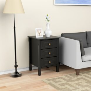 Dawlish Heavy Duty 3 Drawer Nightstand (Set of 2)
